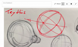 How to draw a sphere + an ellipse on its surface in 2 min ! (Light bulb) | TIP 199