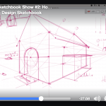 Design Sketchbook Live #2 | How to draw a dog house in perspective !