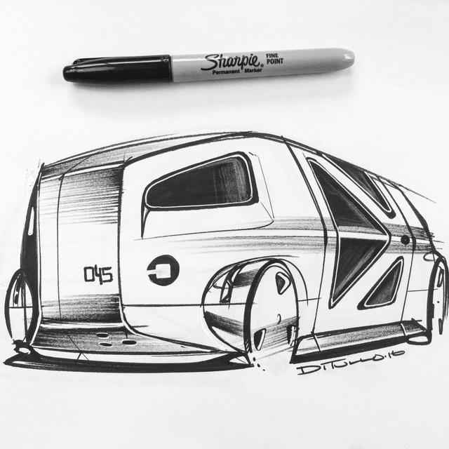 Michael DiTullo Design Sketching Sketchbook Concept art engine vehicle
