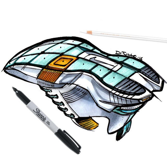 Michael DiTullo Design Sketching Sketchbook Sneaker Footwear below view