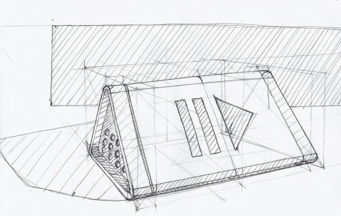 Sandi Premri sketch sound speaker bang and olufsen the design sketchbook product industrial design.png
