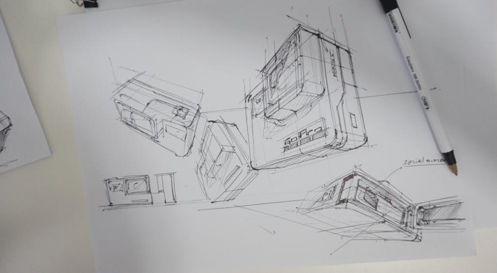 b Ugly Doodle Sketching a Go Pro - product design sketching tutorial the design sketchbook chou-tac d