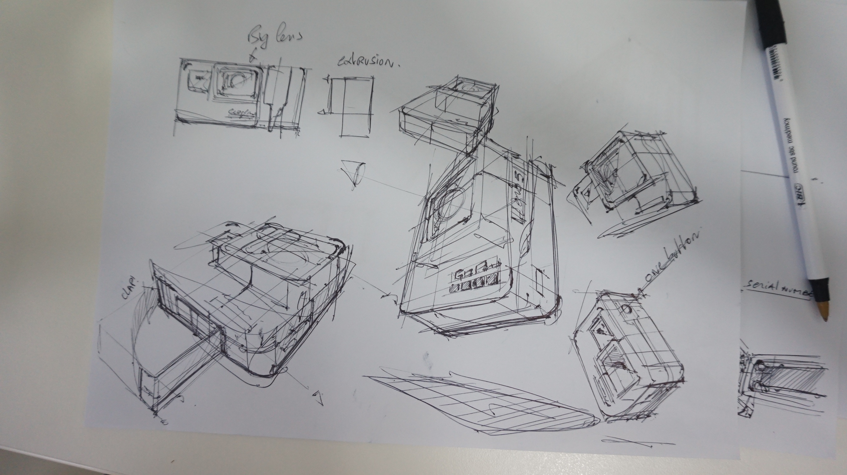 c Ugly Doodle Sketching a Go Pro - product design sketching
