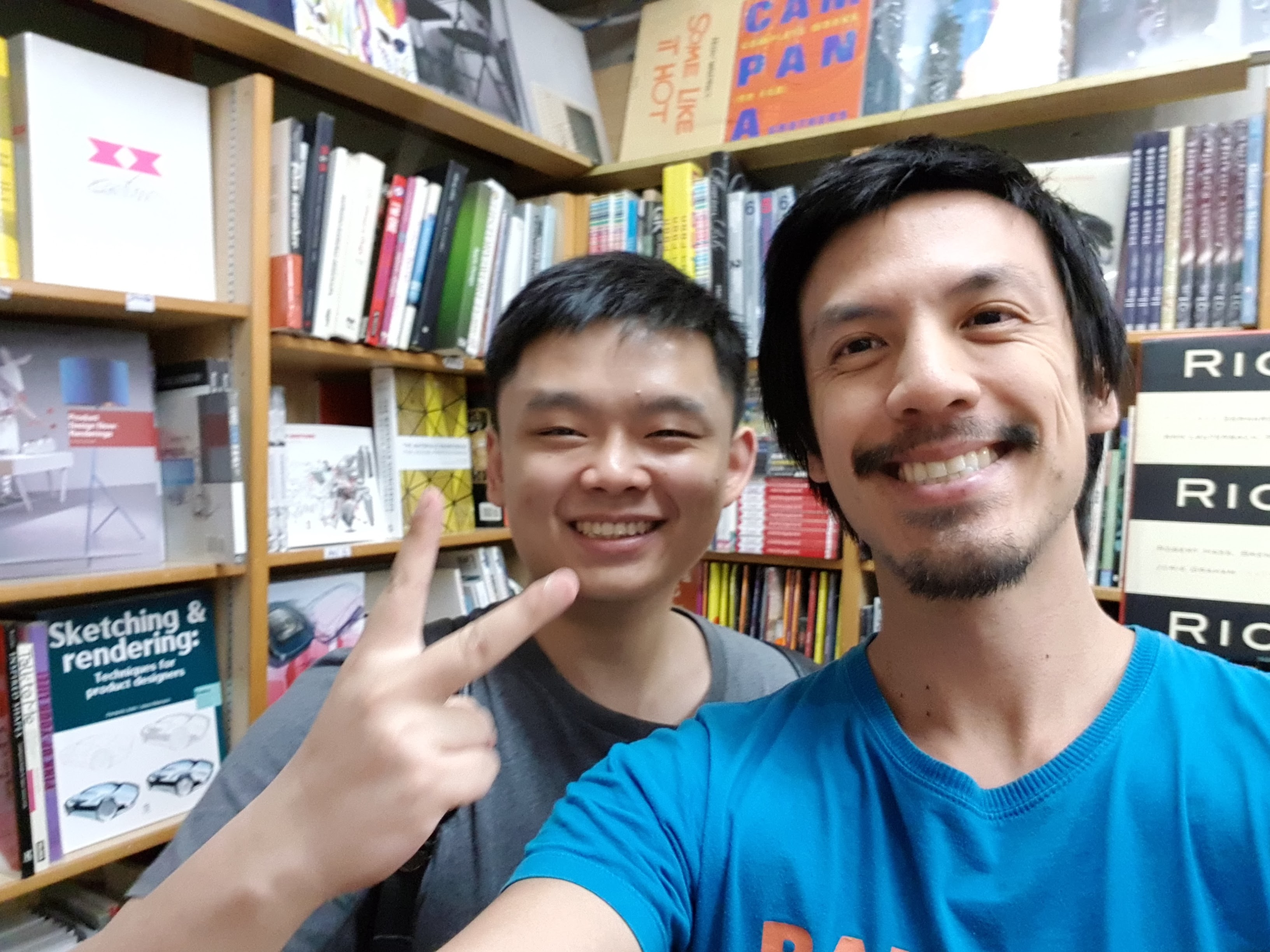 At Basheer Graphics bookstore (Singapore) with John|VIP Sketch Like the Pros member