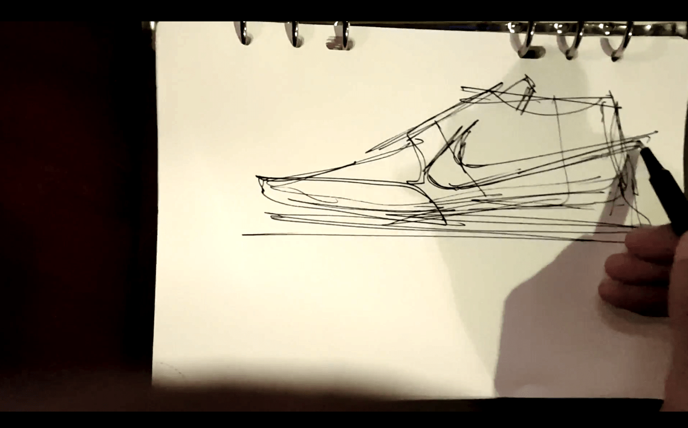 Draw the Nike Swoosh with dycnamism !