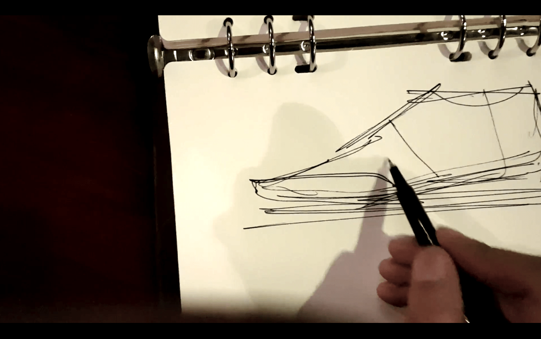 Draw the toe cap