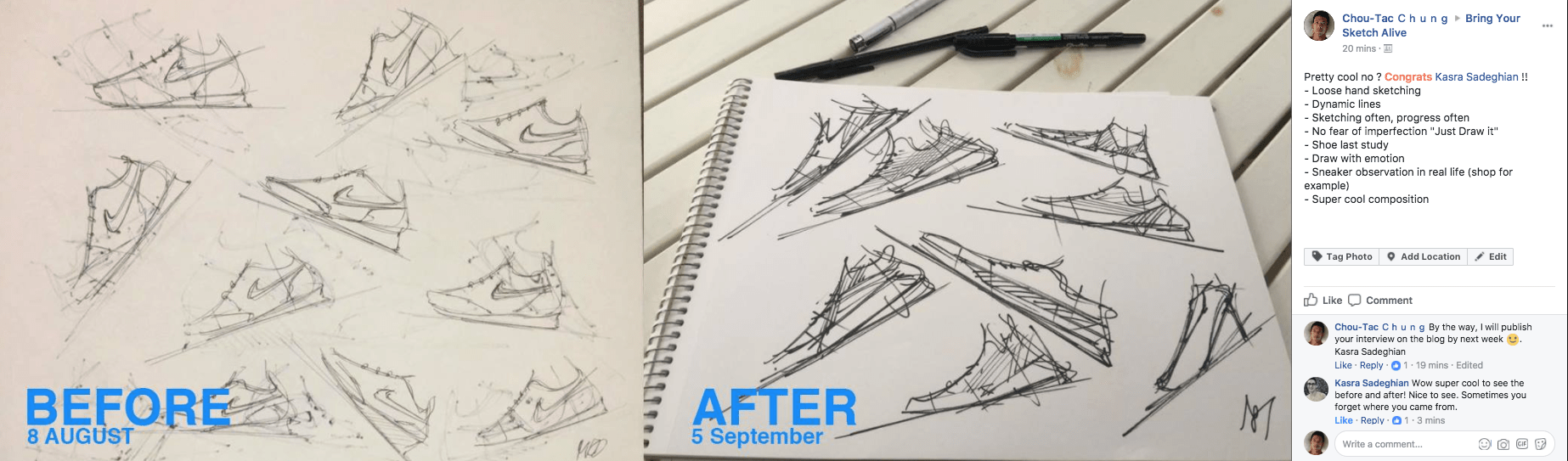 How Kasra did a big jump in his sketching skills in less 1 month