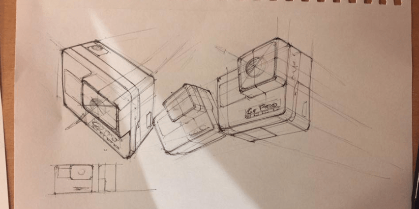 Playing with viewpoint with the GoPro sketching tutorial