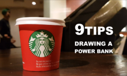 9 sketching tips for beginners drawing a Power Bank