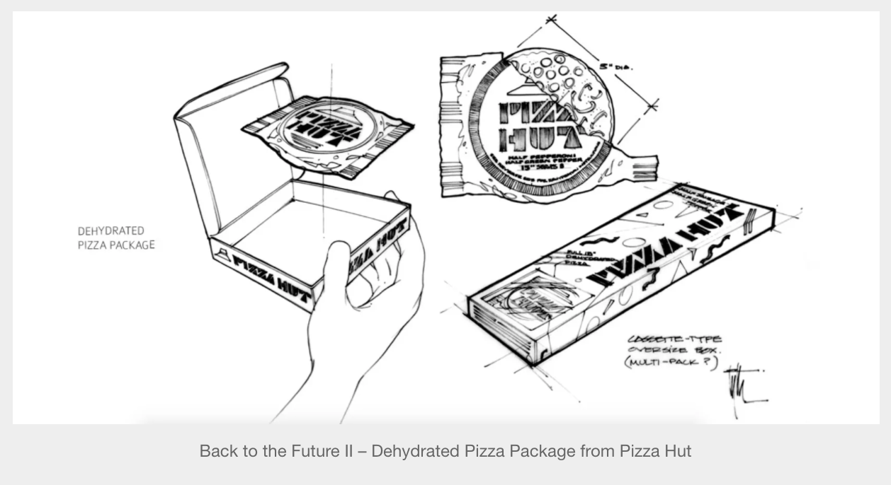 Back to the Future II – Dehydrated Pizza Package from Pizza Hut ...