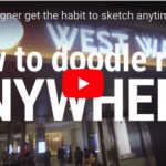 No time for sketching? How designers draw anywhere! (TOKYO, JAPAN)