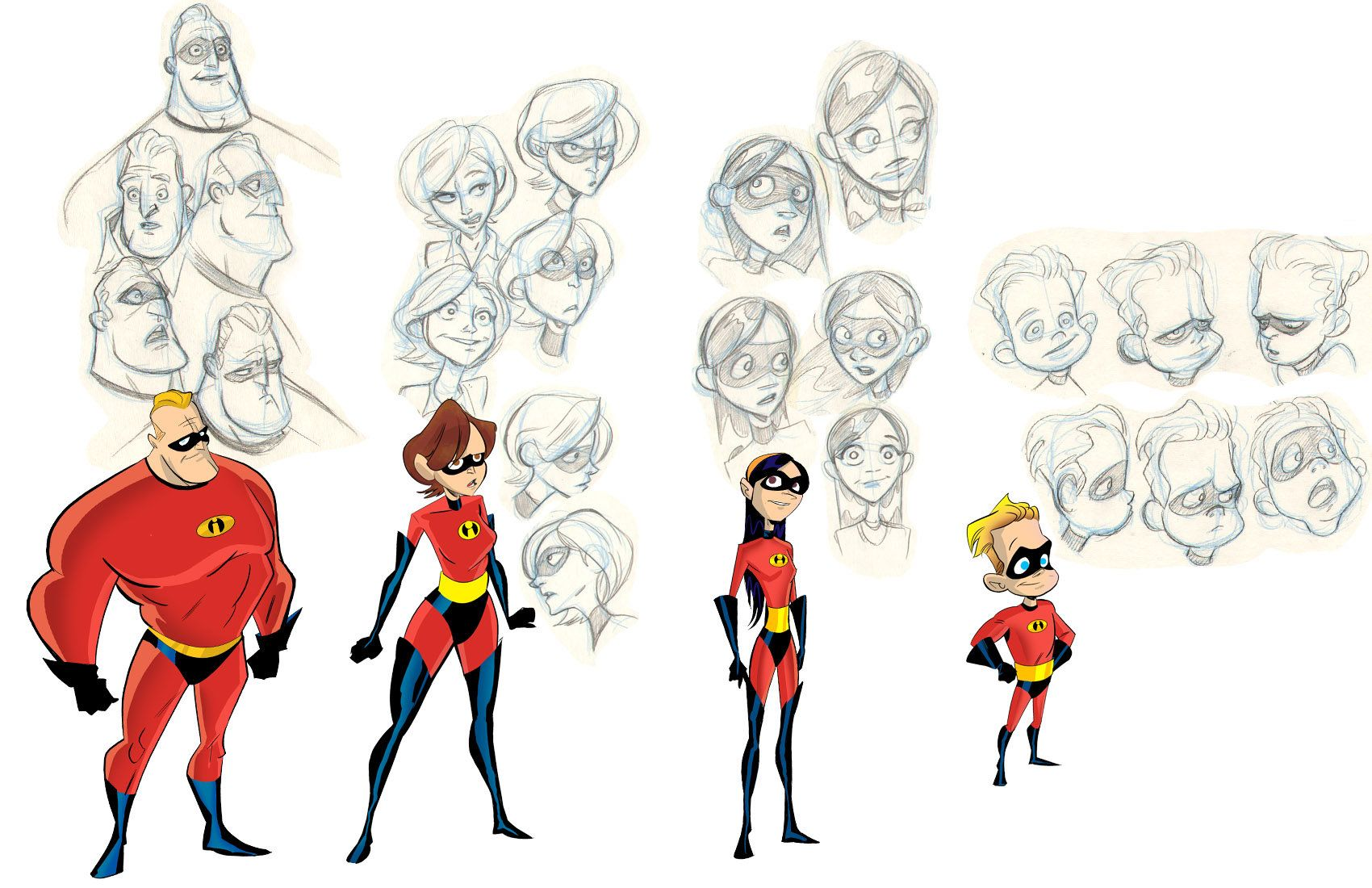 the incredibles character design research from pixar