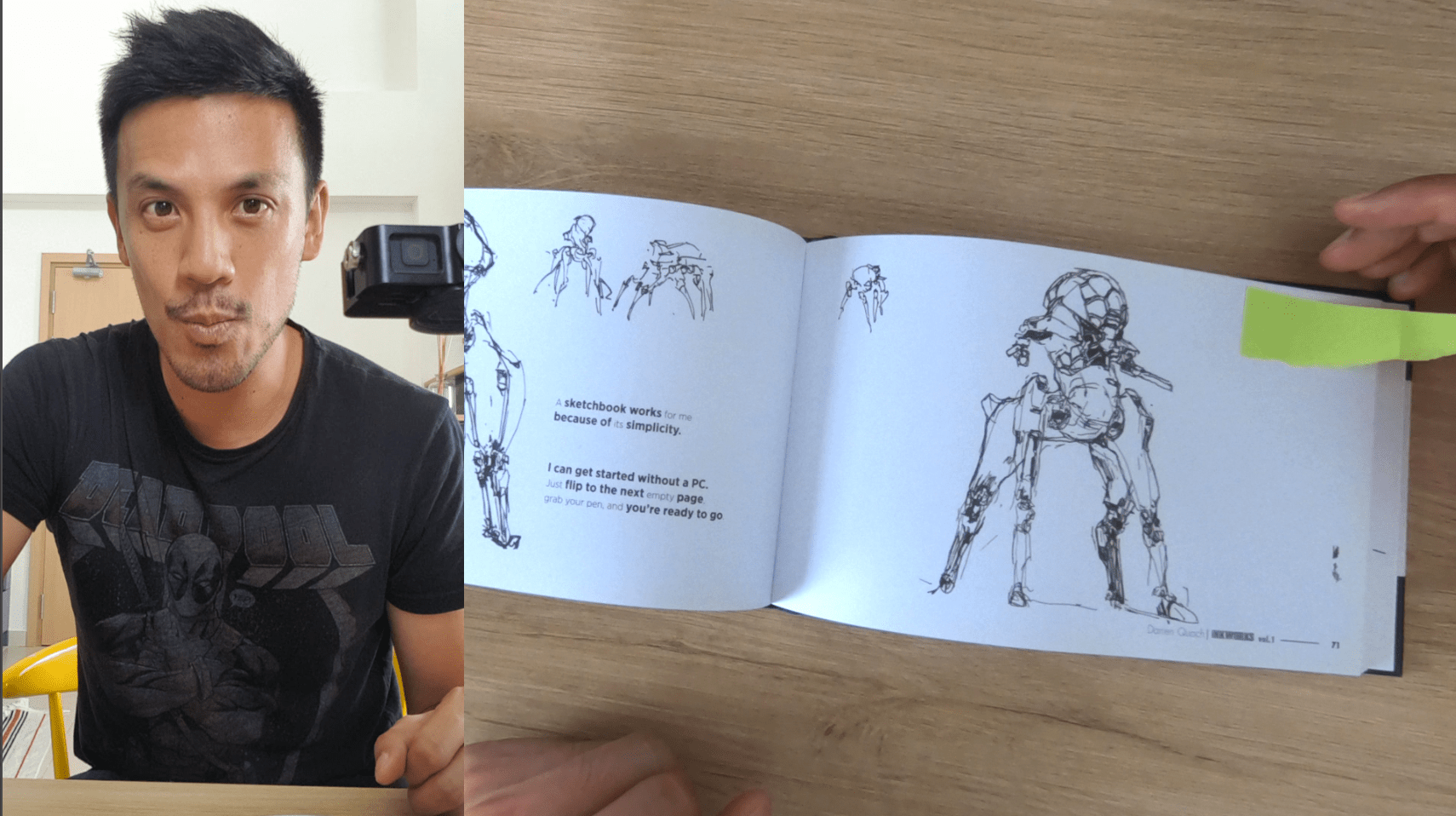 Drawing with ARTBOOKS CHALLENGE #1 : Artbook by Darren Quach : Concept art b