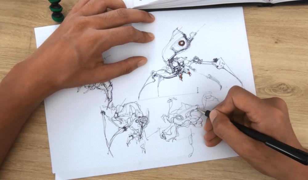 Drawing with ARTBOOKS CHALLENGE #1 : Artbook by Darren Quach : Concept art d