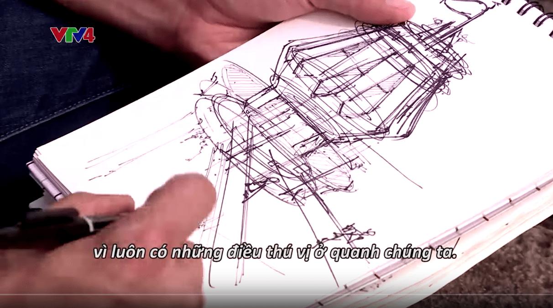 Vietnam discovery VTV4 Binh Duong province Chou-Tac the design sketchbook travel sketchbook er