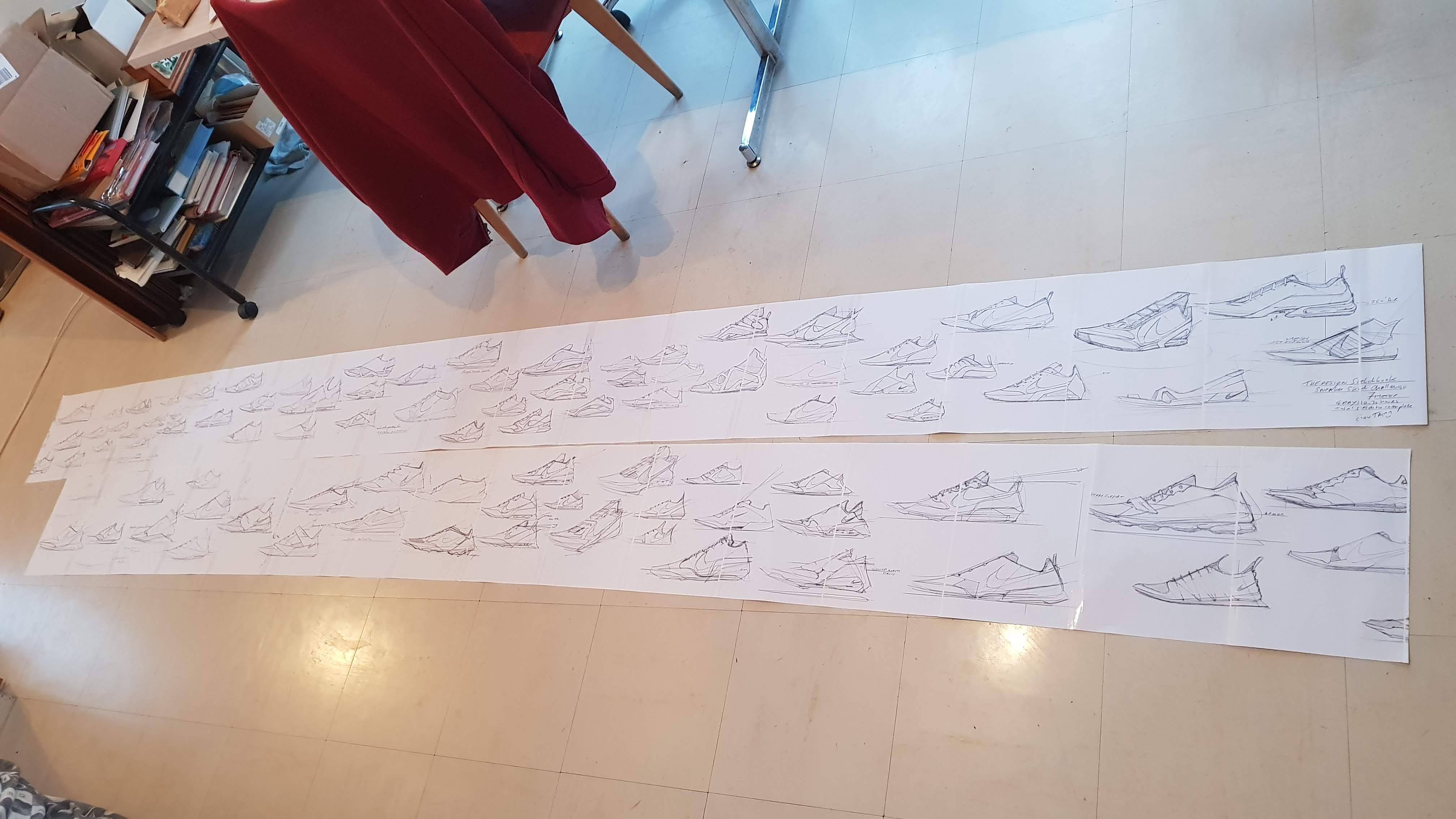 Sketching Sneaker challenge