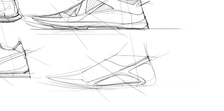 sneaker design Sketching Tip 16 Twist the design inconic reference