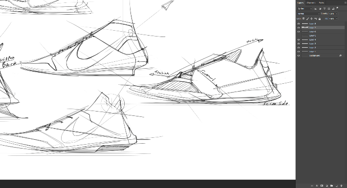 sneaker design Sketching Tip 3 Celebrate drawing progress