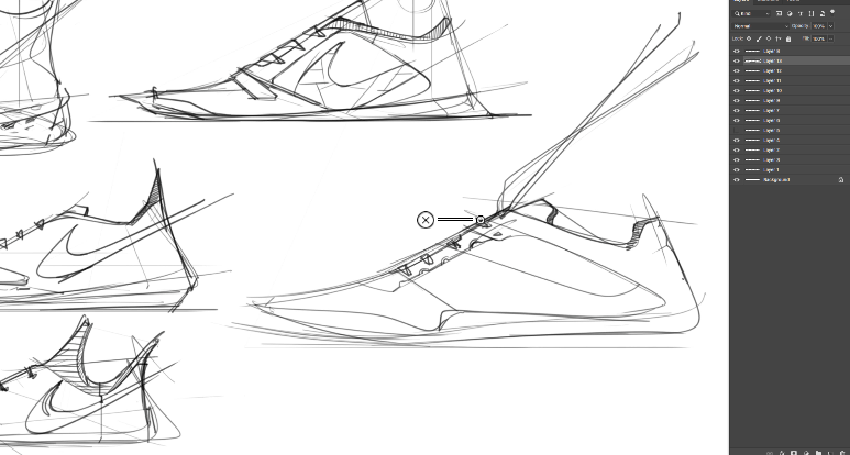 sneaker design Sketching Tip 6 Draw with dynamism.png