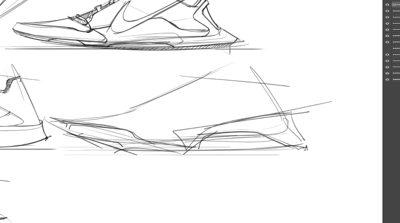 sneaker design Sketching Tip 9 Go from general then details