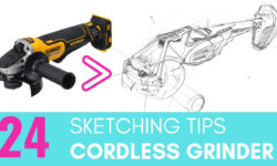 24 Tips to improve your Product Design sketching skills with a Cordless Grinder