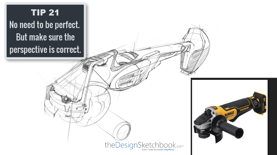 Sketching TIP 21 No need to be perfect. But make sur the perspective is correct