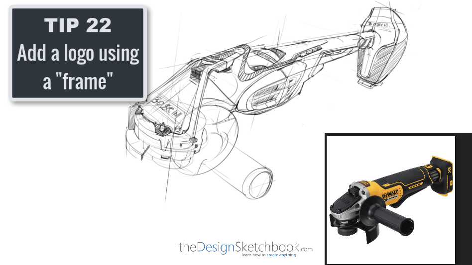 Sketching TIP 22 Add a logo using a frame