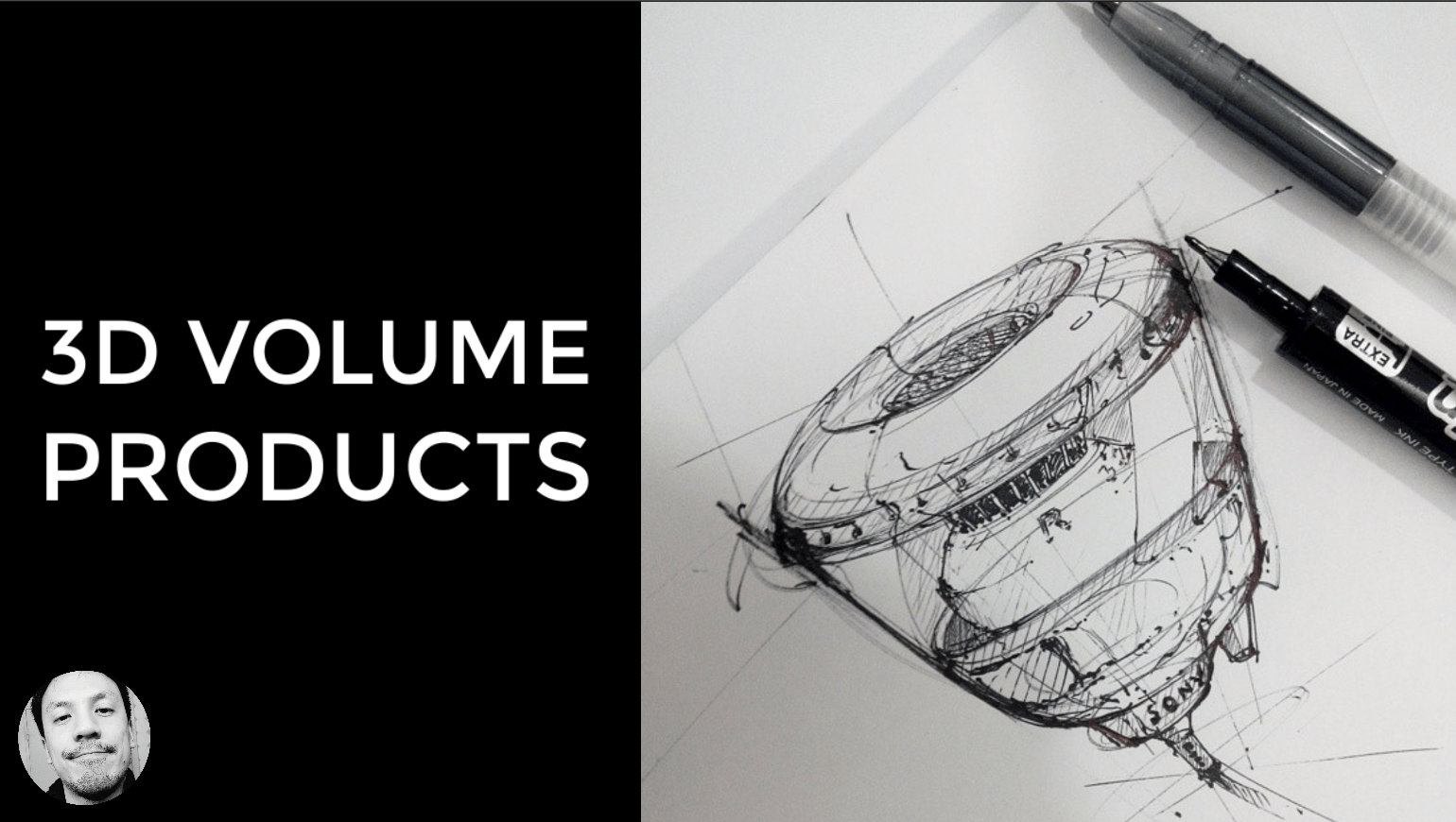 3D volume product sketch the design sketchbook drawing hatching and rise your speed of sketching the design sketchbook chou tac chung a