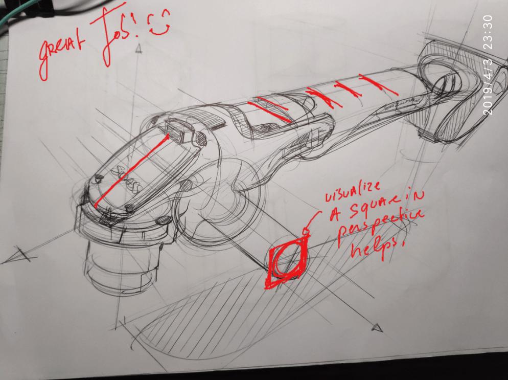 Johsonn sketch from Sketch Like The Pros VIP Member The Design Sketchbook Feedbacks Chou-Tac