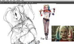 Let's sketch Harley Quinn ! (Demo and drawing Tips)