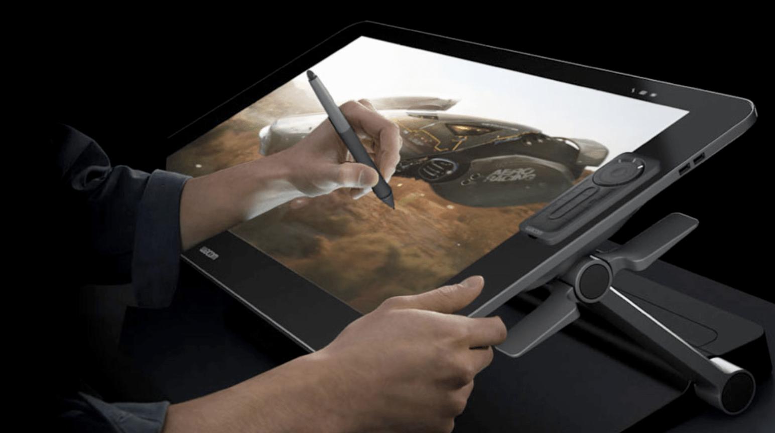 Wacom Cintiq 27HD Drawing as a product designer the design sketchbook