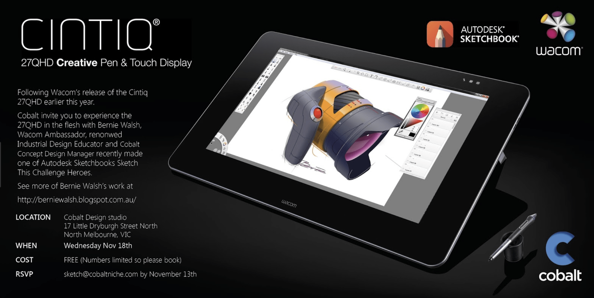 Wacom tablet 27HD Sketchbook pro drawing design product industrial.png