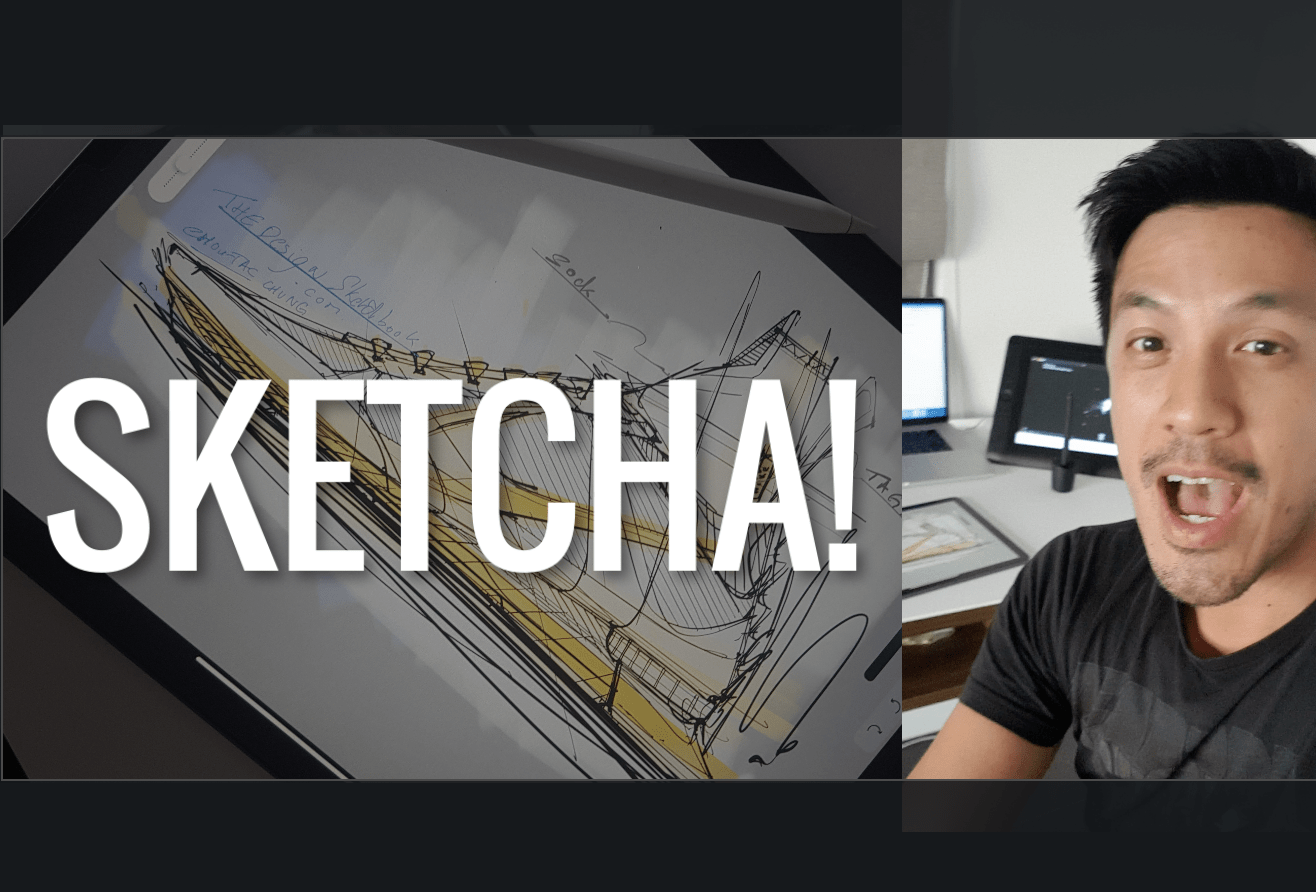 My 1st sketch on the app for Product designers: SKETCHA on iPad Pro