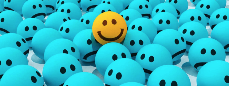Decide to be happy smile