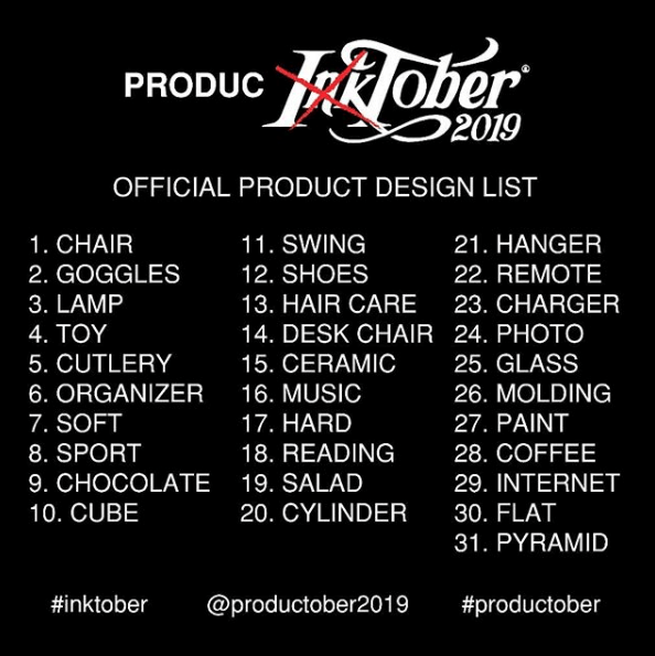 Participate to #Productober (Inktober for Industrial Designers)!