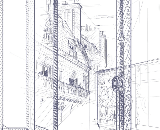 Chung Chou-Tac – Paris, from a window at Starbuck sketching tutorial on graphic tablet.png