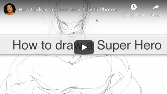 How to draw a Super-Hero (Photoshop) |TIP 140 |VIDEO