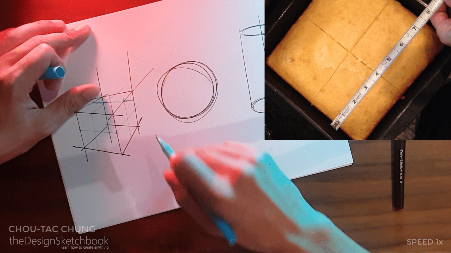 How to draw the 3 basic forms of design sketching cube sphere cylinder f