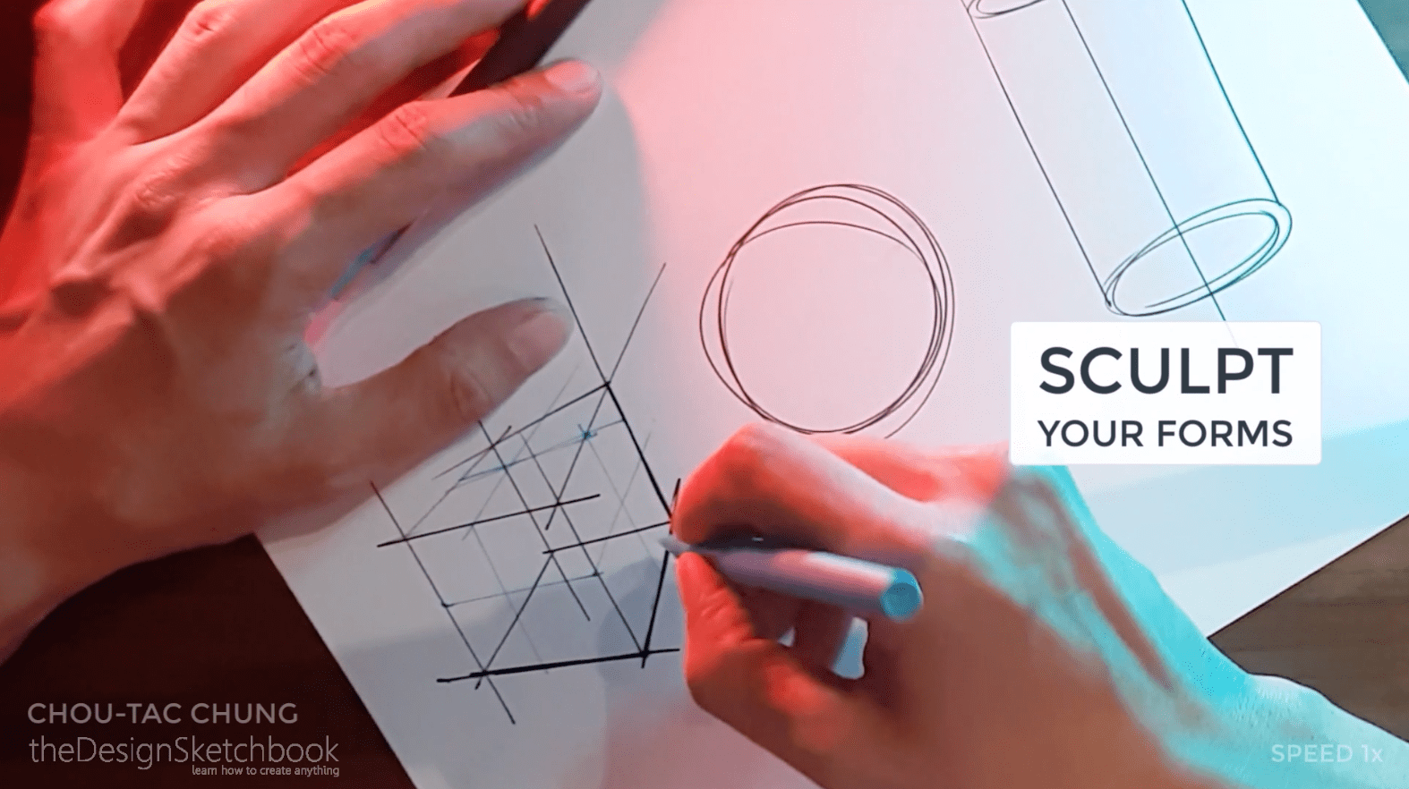 How to draw the 3 basic forms of design sketching cube sphere cylinder g