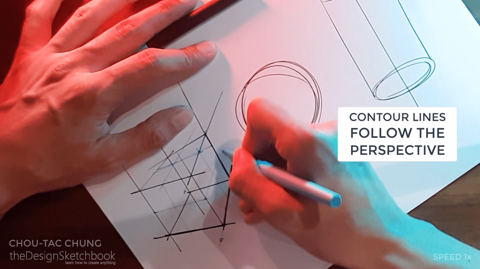 How to draw the 3 basic forms of design sketching cube sphere cylinder h
