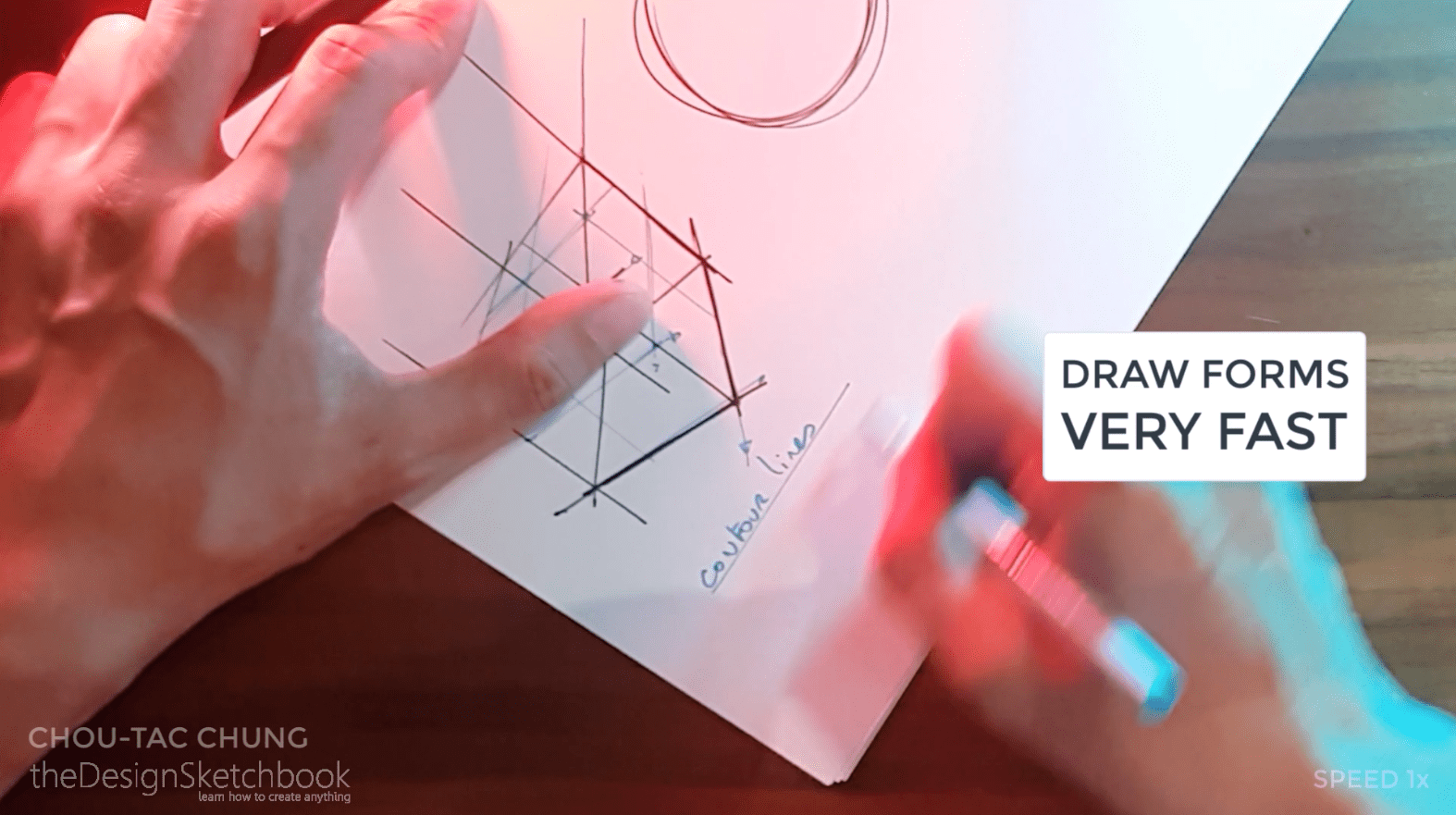 How to draw the 3 basic forms of design sketching cube sphere cylinder i