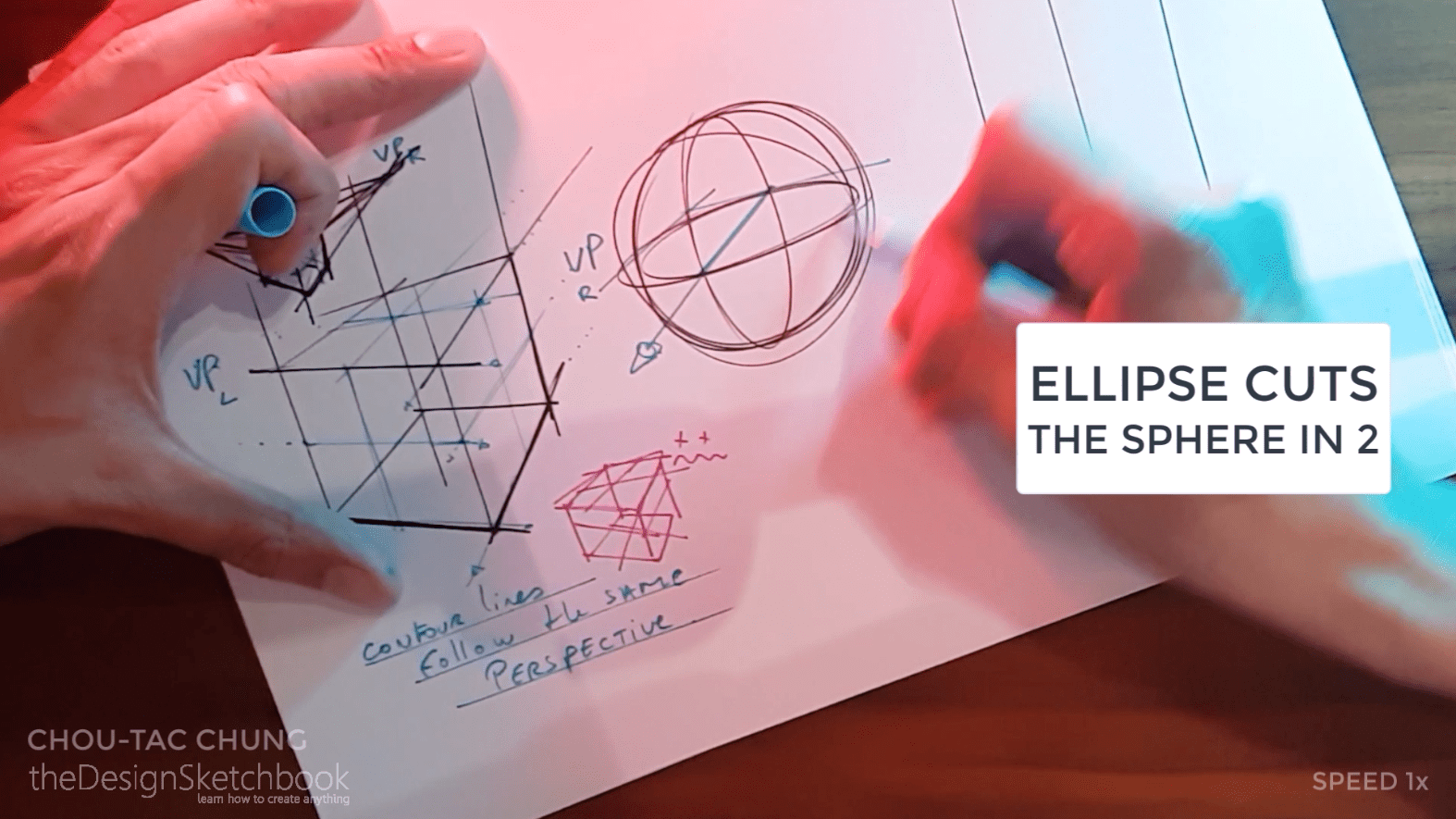 How to draw the 3 basic forms of design sketching cube sphere cylinder k