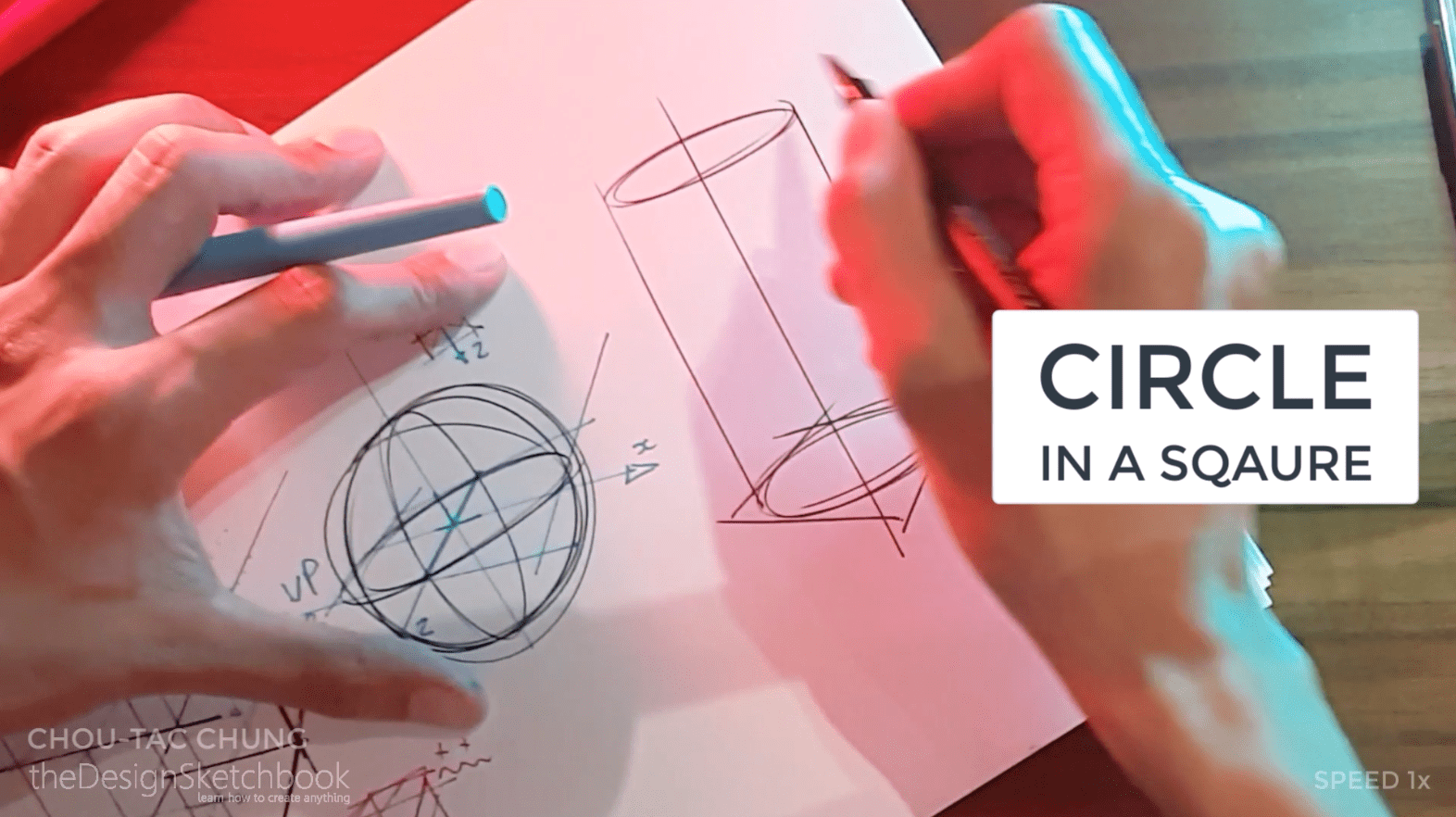 How to draw the 3 basic forms of design sketching cube sphere cylinder m