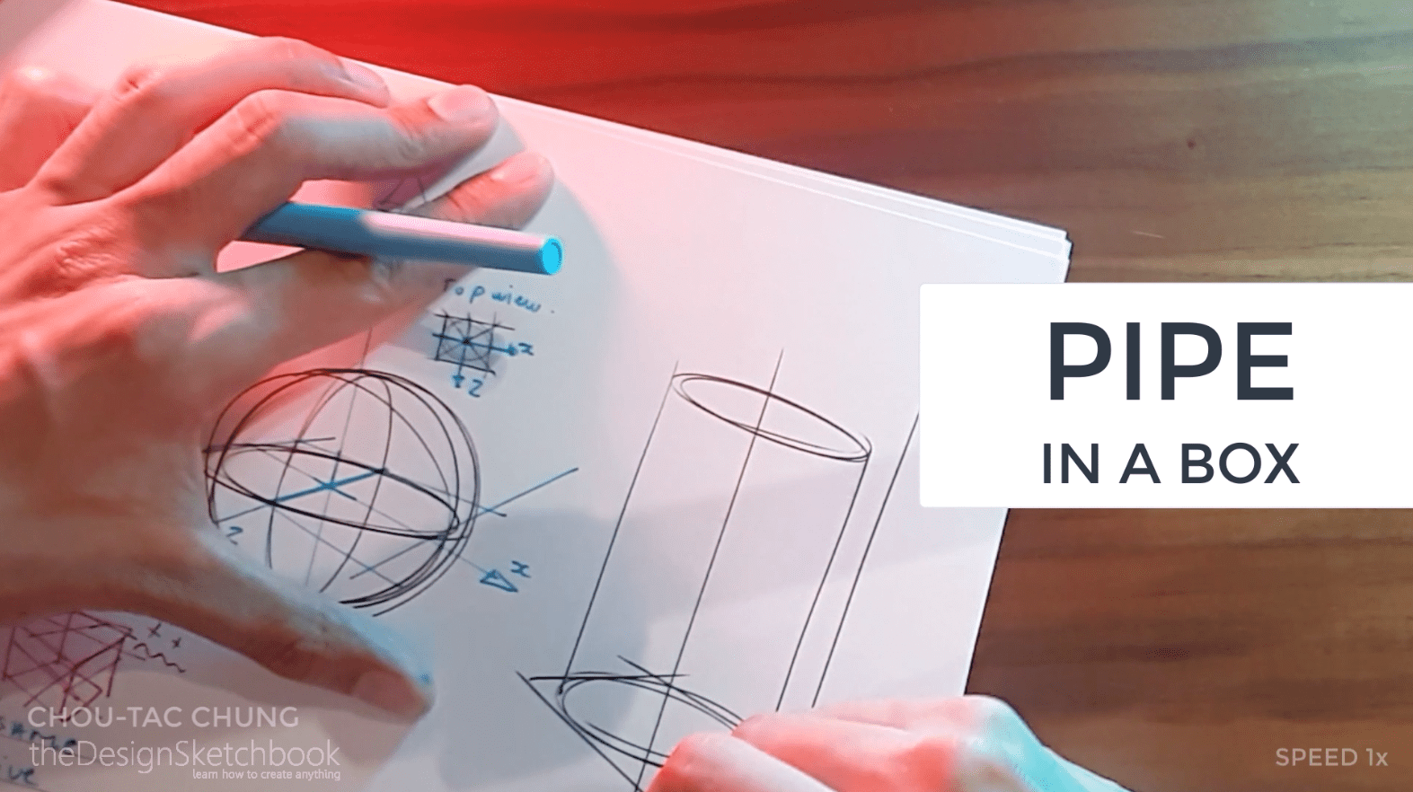 How to draw the 3 basic forms of design sketching cube sphere cylinder n