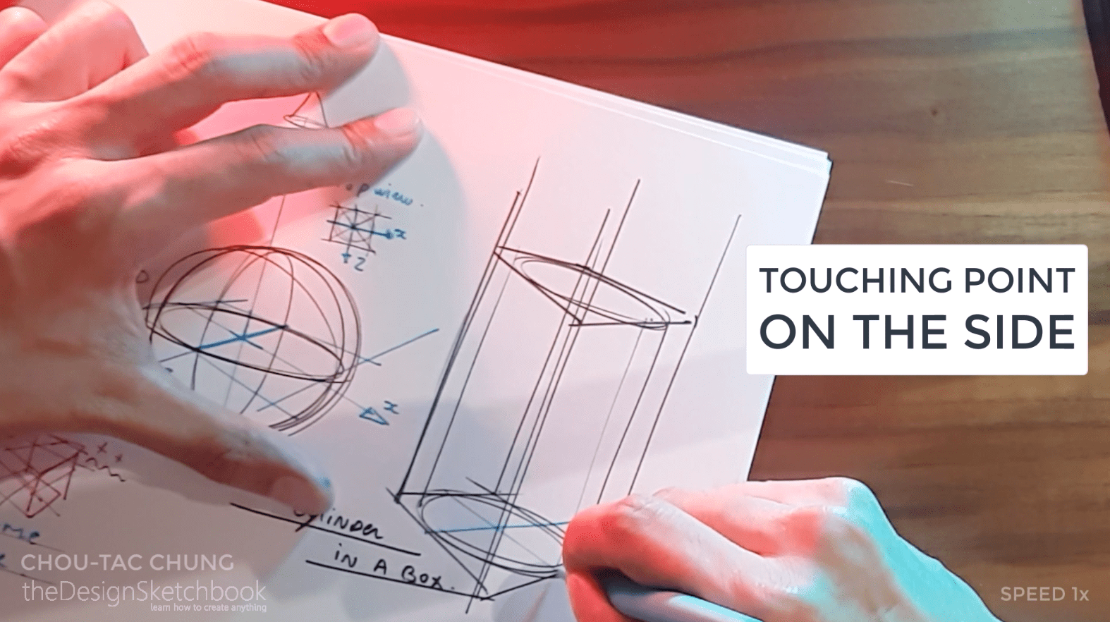How to draw the 3 basic forms of design sketching cube sphere cylinder o