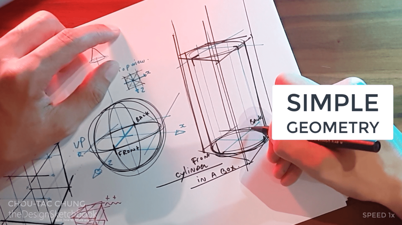 How to draw the 3 basic forms of design sketching cube sphere cylinder q