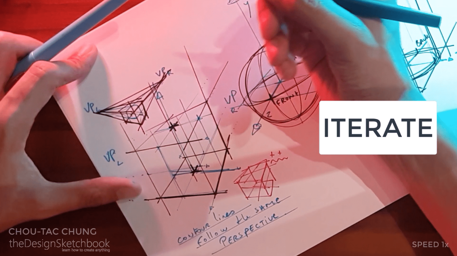 How to draw the 3 basic forms of design sketching cube sphere cylinder s