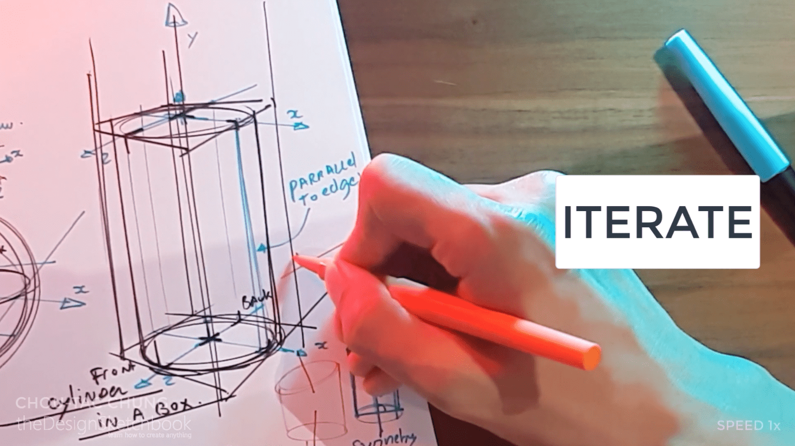 How to draw the 3 basic forms of design sketching cube sphere cylinder u