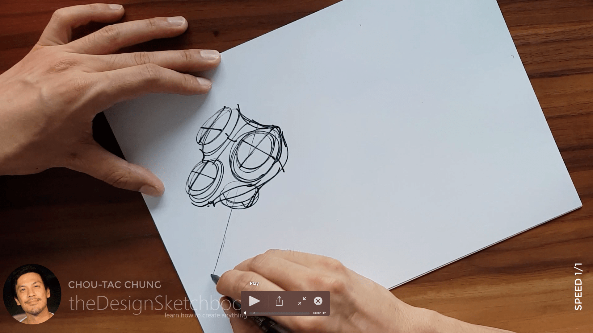 Sketching an electric shaver PHILIPS with the pilot twin marker pen - the design sketchbook - chung chou tac a4