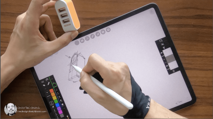 How to draw USB Charger on ipad pro with morpholio trace  Product design sketching ugly doodle reference.png